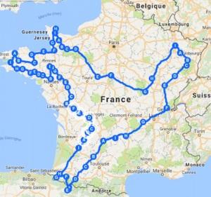 itineraire-projet-Juillet2017-CavalBreizh-Chamane-et-Marinette